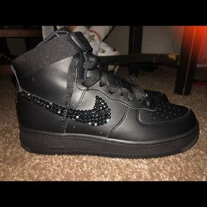 Nike Air Force One High Blinged Out